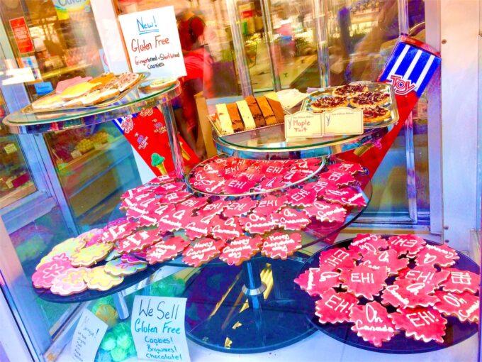 カナダのマーケットに売られていたクッキー