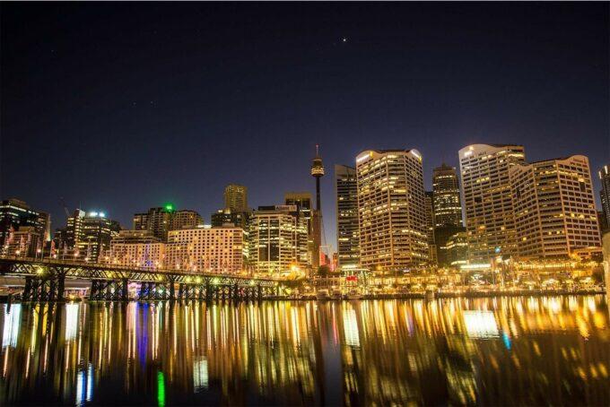 シドニーシティの夜景