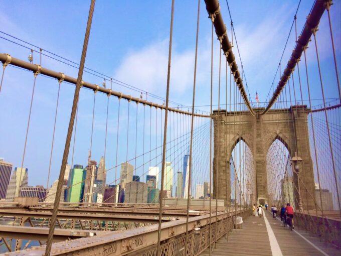 ブルックリンブリッジとニューヨークの景色