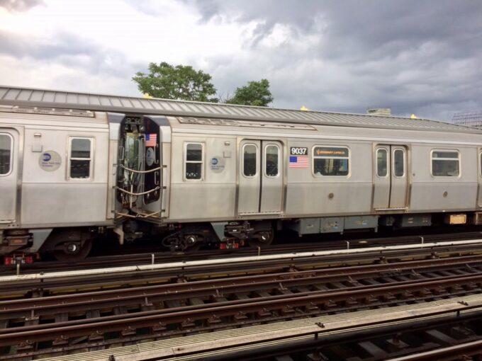 アメリカの電車の写真