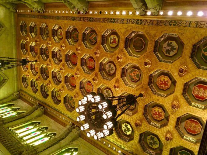 オタワ国会議事堂の綺麗な天井