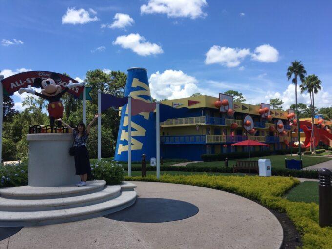 ディズニーワールドのホテルの外観